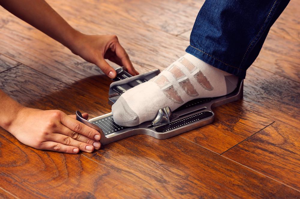 Brannock Device Foot Measuring