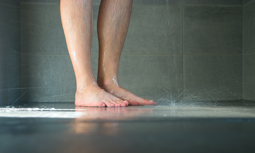 The Awesome Reason A UK Man Is Peeing On His Own Feet