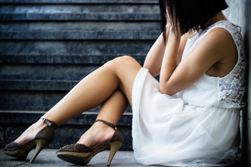 Sad Woman Wearing Heels, Embarrassing Foot Issues Tackled